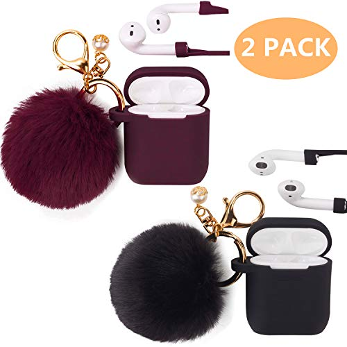 Black Filoto Airpod Pro Case Cover for Apple AirPods Pro Wireless Charging Case Cute AirPods 3 Case Silicone Protective Accessories Keychain//Pompom//Strap 2019 Winterd Airpods Case