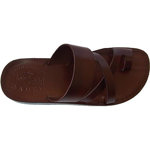 Bethlehem Black Style Camel Trademark Holy Land Market Unisex Adults//Children Genuine Leather Biblical Sandals//Flip Flops Jesus - Yashua