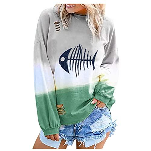 Sweatshirts for Women Women/'s Crewneck Long Sleeve Fashion Horse Printed Casual Pullover Tops Blouse Sweater Shirts