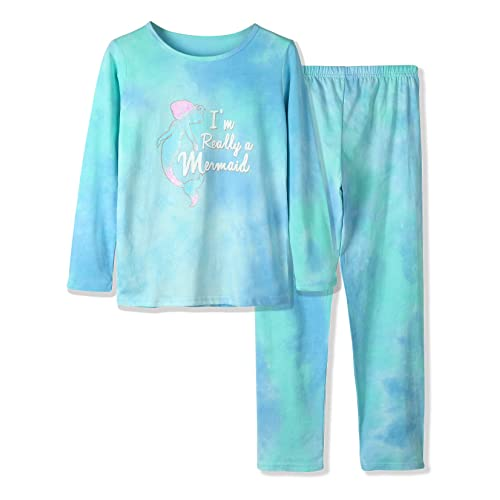 Pajamas for Girls 100/% Cotton Tie dye Unicorn Mermaid Sleepover PJ Set Size 4T-18