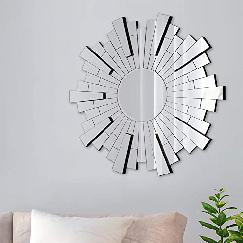 Buy Everly Hart Collection Beveled Silver Starburst Accent Wall Mounted Mirror Online In Ghana B07j55sw9t