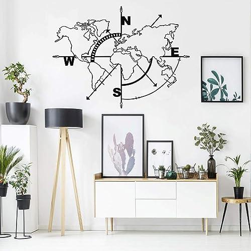 Buy Dekadron Metal World Map Wall Art Compass World Map Without Borders Metal Wall Decor Metal Sign Wall Hangings 39 W X 30 H 98x75 Cm Online In Ghana B07x3myfgz