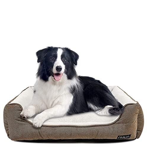 Buy Anwa Durable Dog Bed Machine Washable Medium Dog Bed Square Comfortable Puppy Dog Bed Medium Online In Ghana B082n1x7x8