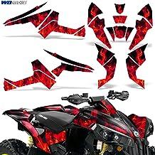 Wholesale Decals ATV Graphics kit Sticker Decal Compatible with Suzuki LT-Z400 QuadSport 2003-2008 Pink Flames